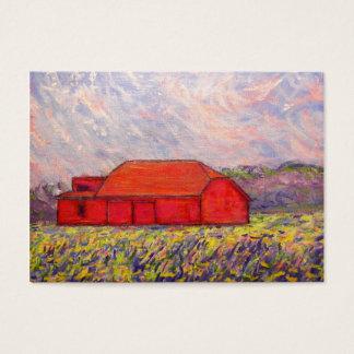 Cartes De Visite grange avec des iris