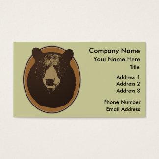 Cartes De Visite Graphique monté de tête d'ours d'empaillage