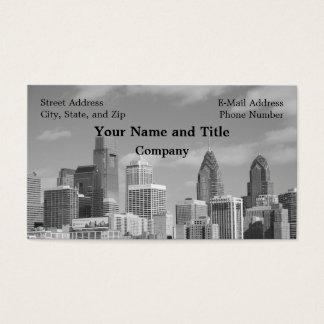 Cartes De Visite Gratte-ciel de Philly noirs et blancs