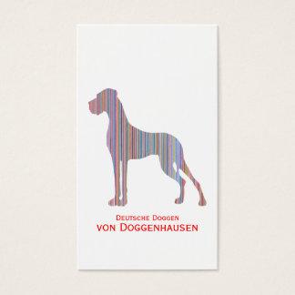 Cartes De Visite Great dane dans des couleurs en pastel