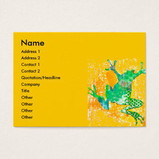 Cartes De Visite Grenouille sautante