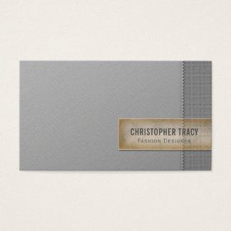 Cartes De Visite Gris à deux tons de Minimalistic