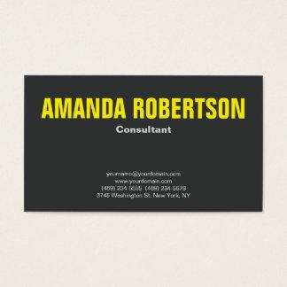 Cartes De Visite Gris jaune simple professionnel audacieux