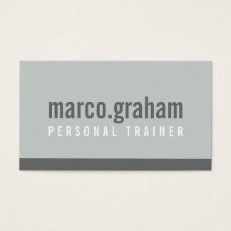 Cartes De Visite Gris mono masculin minimaliste de BANDE MODERNE