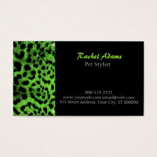 Cartes De Visite Groomer d'animal familier de guépard de