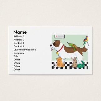 Cartes De Visite Groupe d'animal familier