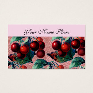 Cartes De Visite Groupe vintage de conception antique de fruit de