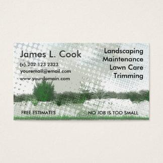 Cartes De Visite Grunge moderne verte de jardinage d'artiste de