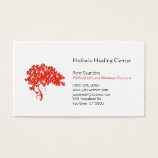 Cartes De Visite Guérison holistique et naturelle d'arbre rouge