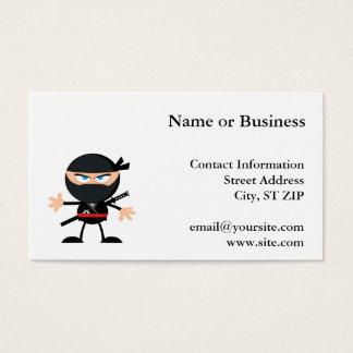 Cartes De Visite Guerrier de Ninja de bande dessinée