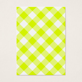 Cartes De Visite Guingan jaune Chartreuse