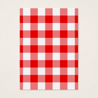 Cartes De Visite Guingan rouge