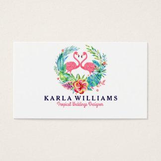 Cartes De Visite Guirlande florale colorée de wedding planner