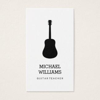 Cartes De Visite Guitare acoustique de musicien minimaliste