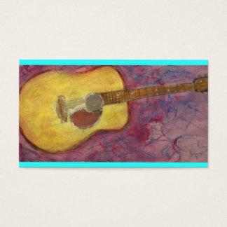 Cartes De Visite guitare acoustique de patine jaune