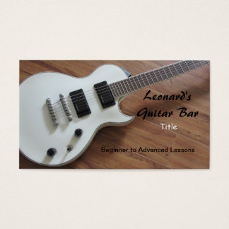 Cartes De Visite Guitare électrique - leçons