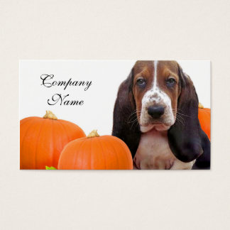 Cartes De Visite Halloween Basset Hound