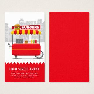Cartes De Visite Hamburgers d'hamburgers de rue de nourriture