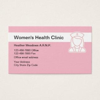 Cartes De Visite HealthClinic médical des femmes