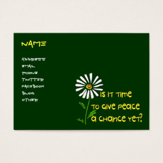 Cartes De Visite Heure pour la paix