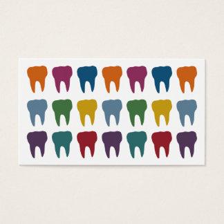 Cartes de visite heureux de dentiste de dents