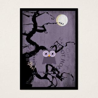Cartes De Visite Hibou et arbre noueux déplaisant pour Halloween