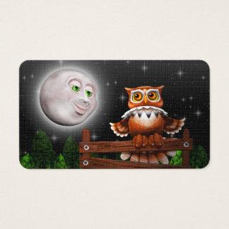 Cartes De Visite Hibou et lune surréalistes Business_cards