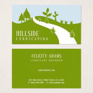 Cartes De Visite Hillside vert aménageant le paysagiste en parc de