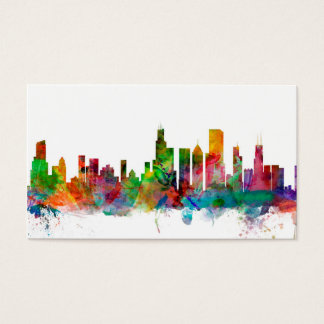 Cartes De Visite Horizon de Chicago l'Illinois