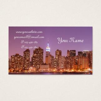 Cartes De Visite Horizon de Manhattan la nuit, New York City