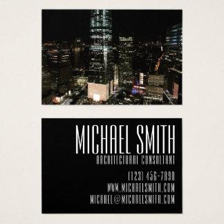 Cartes De Visite Horizon du centre NYC de Manhattan de nuit de New