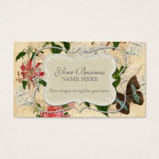 Cartes De Visite Hortensia rose du papillon n de lis vintage