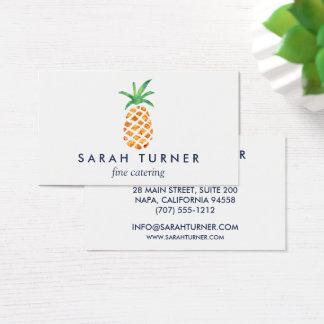 Cartes De Visite Hospitalité de traiteur d'ananas