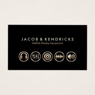 Cartes De Visite Icônes mobiles BusinessCard d'or d'équipement de