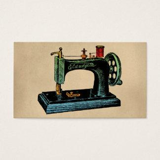 Cartes De Visite Illustration de cru de machine à coudre
