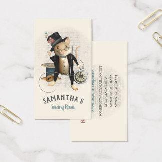 Cartes De Visite Illustration inspirée victorienne de couture de