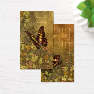 Cartes De Visite Illustration vintage de papillon de style
