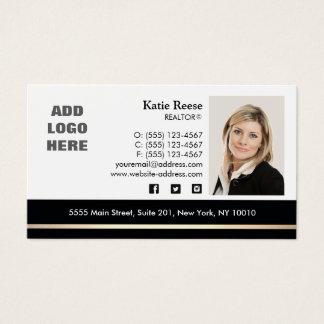 Cartes De Visite Immobiliers de photo de rayure professionnelle