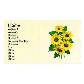 Cartes de visite impertinents de tournesols carte de visite standard