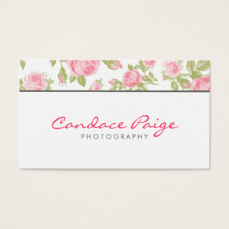 Cartes De Visite Impression florale vintage Girly de roses