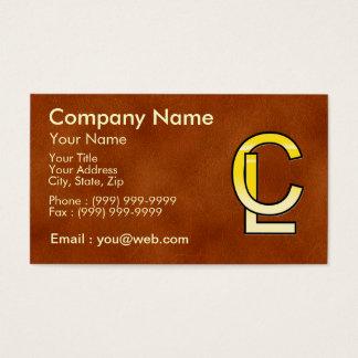 Cartes De Visite initiales  C et L en or sur fond de cuir