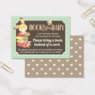 Cartes De Visite Insertion de demande de livre de baby shower de