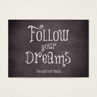 Cartes De Visite Inspiré suivez votre citation de rêves