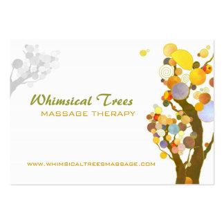 Cartes de visite inspirés de thérapie de massage d carte de visite