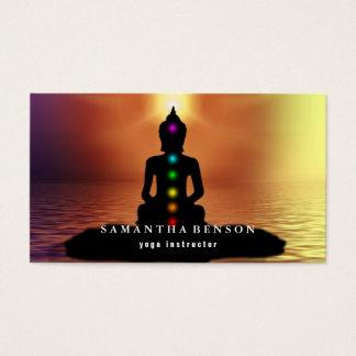 Cartes De Visite Instructeur élégant de yoga de logo