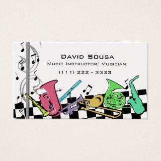 Cartes De Visite Instruments de musique colorés