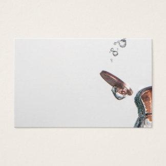 Cartes De Visite Inventez l'éclaboussure dans l'eau sur un arrière