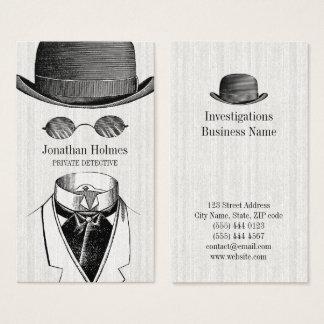 Cartes de visite invisibles de détective privé