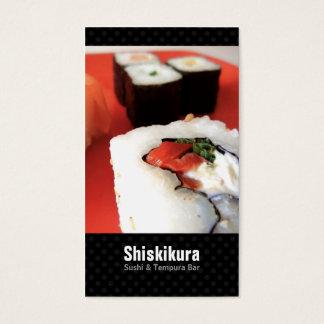 Cartes de visite japonais de restauration de chef