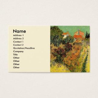 Cartes De Visite Jardin de Van Gogh derrière une Chambre,